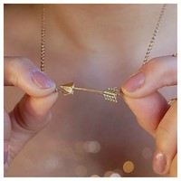 Point Me To Success Arrow Necklace- Tanya Kara Jewelry