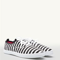 Striped Lace-Up Oxford Sneakers