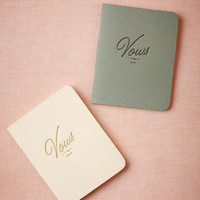 Letterpress Vow Journals