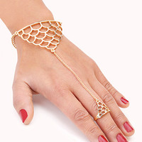 Clear Cut Scalloped Handchain