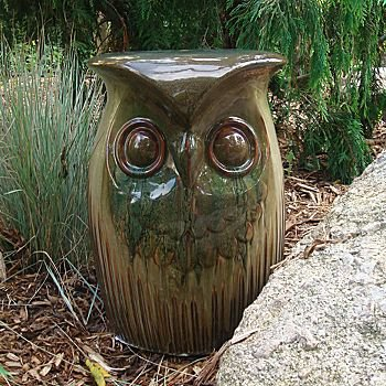 Owl Ceramic Outdoor Garden Stool : from JCPenney | Animal Love