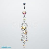 Glistening Chandelier Belly Button Ring