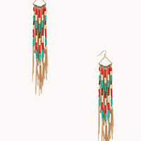 Earthy Beaded Drop Earrings