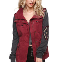LA Hearts Hybrid Military Jacket at PacSun.com