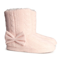 H&M - Knit Slippers - Light pink - Ladies