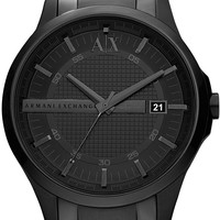 Black Steel Watch - Accessories - Mens - Armani Exchange