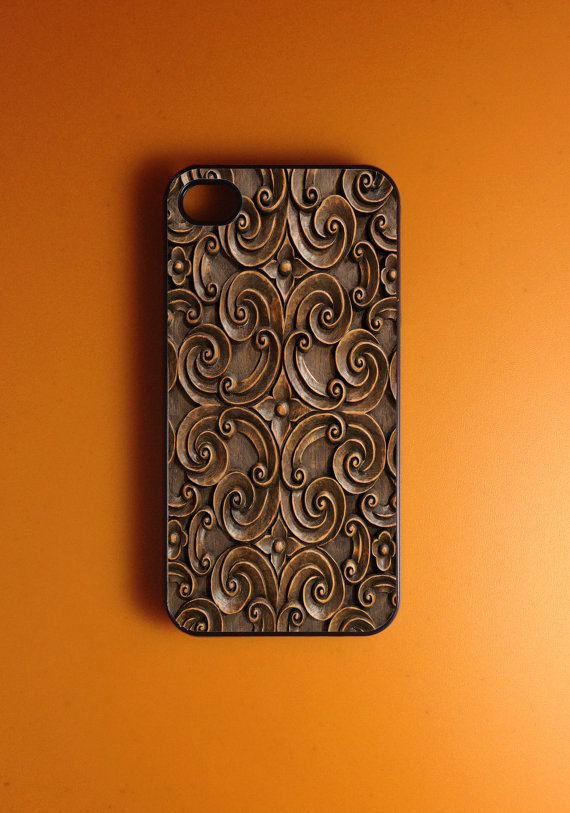 carved iphone case iphone 4 carved wood iphone from dziner cases 10341
